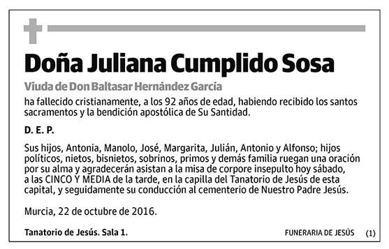 Juliana Cumplido Sosa