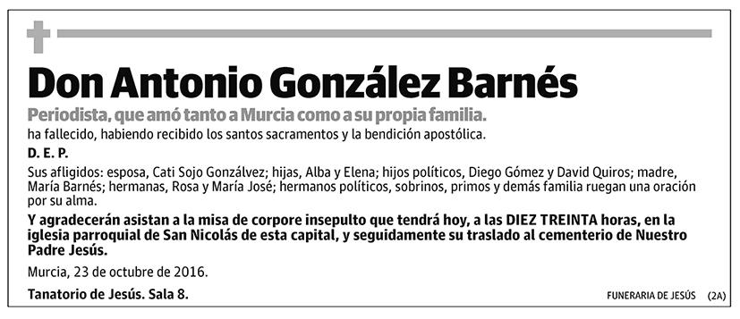 Antonio González Barnés