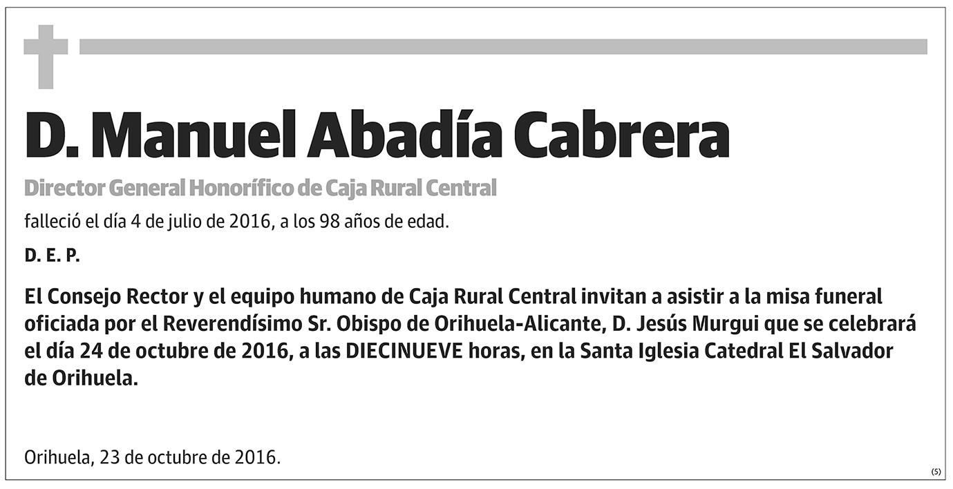 Manuel Abadía Cabrera