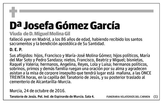 Josefa Gómez García