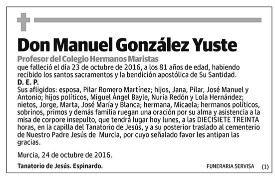 Manuel González Yuste