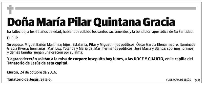 María Pilar Quintana Gracia