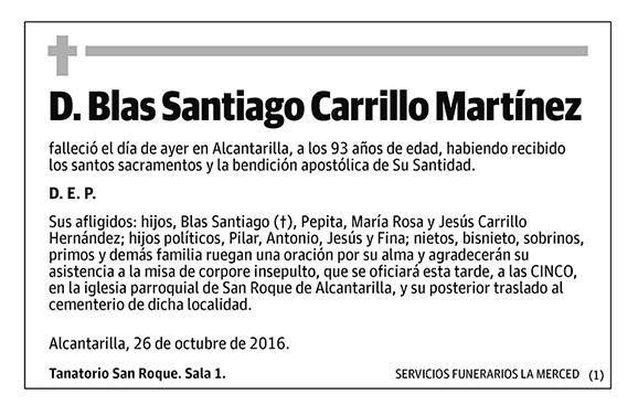 Blas Santiago Carrillo Martínez