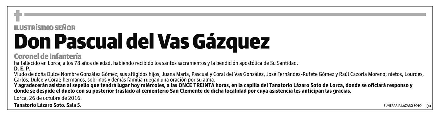Pascual del vas Gázquez