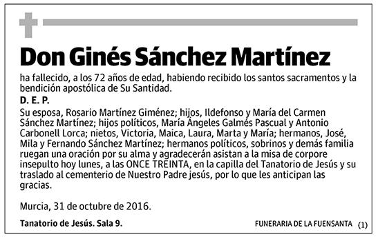 Ginés Sánchez Martínez