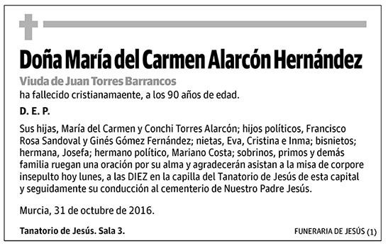 María del Carmen Alarcón Hernández
