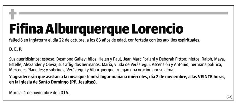 Fifina Alburquerque Lorencio