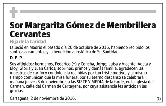 Margarita Gómez de Membrillera Cervantes