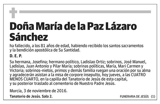 María de la Paz Lázaro Sánchez