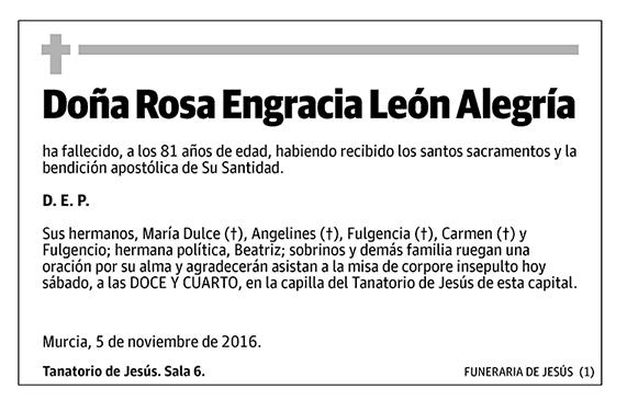 Rosa Engracia León Alegría