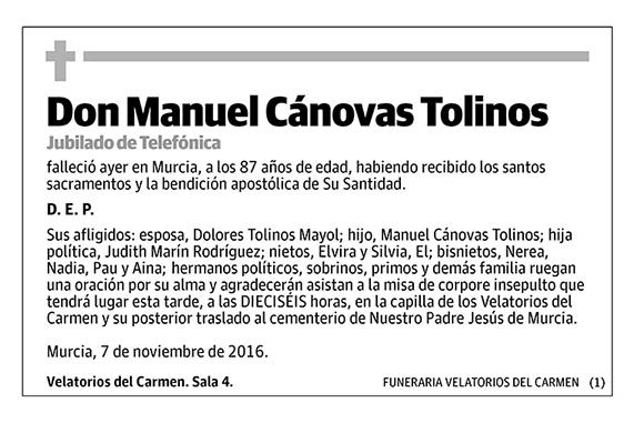 Manuel Cánovas Tolinos