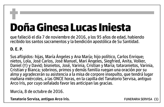 Ginesa Lucas Iniesta
