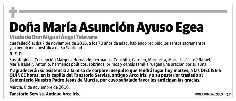 María Asunción Ayuso Egea