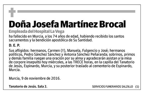 Josefa Martínez Brocal