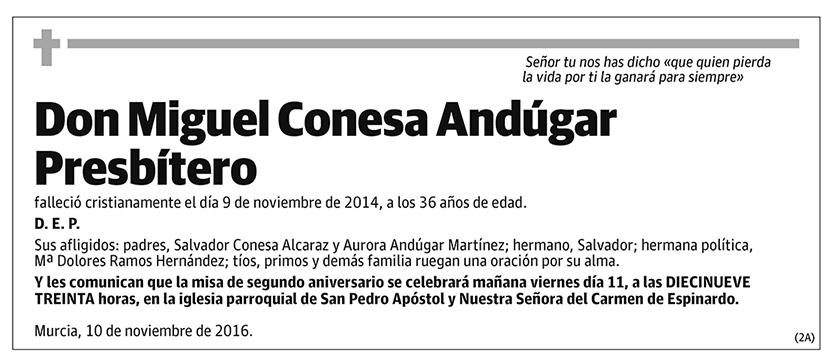 Miguel Conesa Andúgar Presbítero