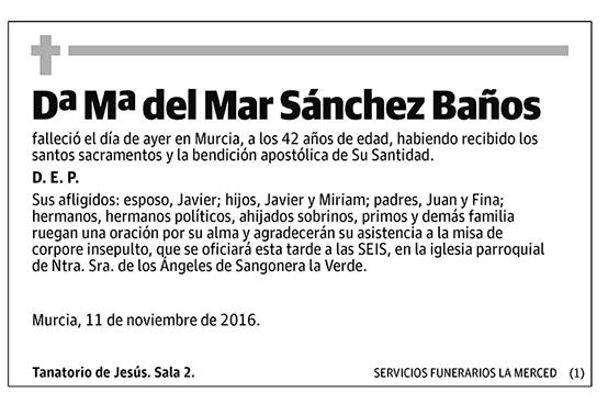 Mª del Mar Sánchez Baños