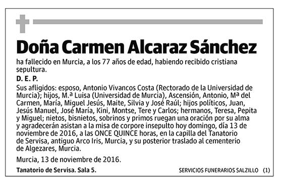 Carmen Alcaraz Sánchez