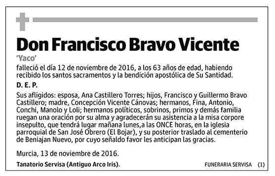 Francisco Bravo Vicente
