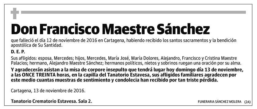 Francisco Maestre Sánchez
