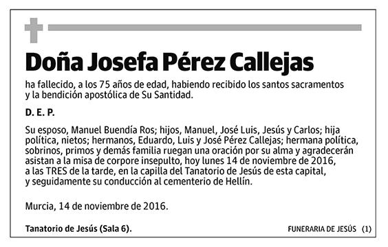 Josefa Pérez Callejas