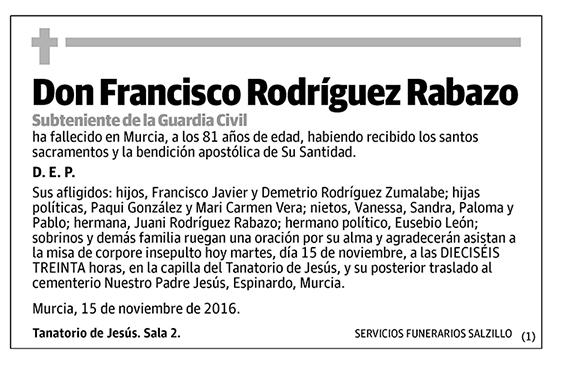 Francisco Rodríguez Rabazo