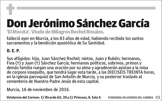 Jerónimo Sánchez García