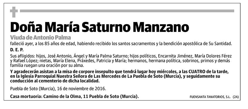María Saturno Manzano