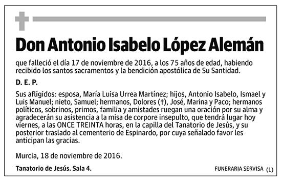 Antonio Isabelo López Alemán