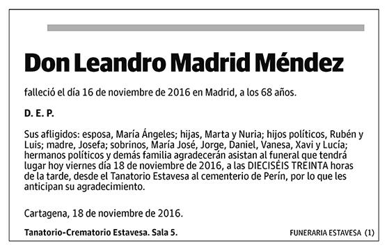 Leandro Madrid Méndez