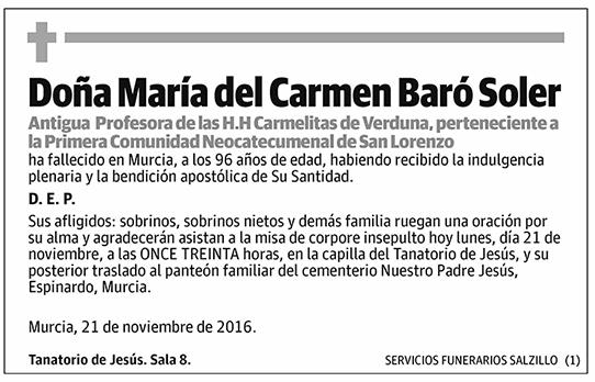 María del Carmen Baró Soler