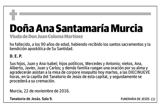 Ana Santamaría Murcia
