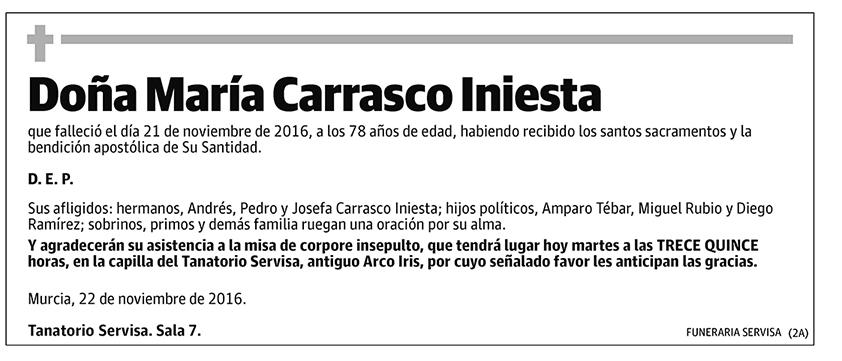 María Carrasco Iniesta