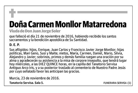 Carmen Monllor Matarredona