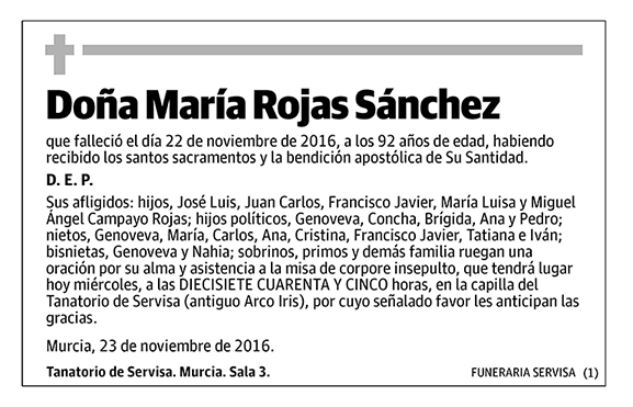 María Rojas Sánchez