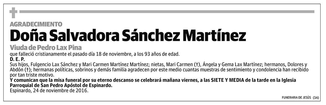 Salvadora Sánchez Martínez