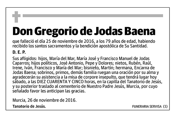Gregorio de Jodas Baena