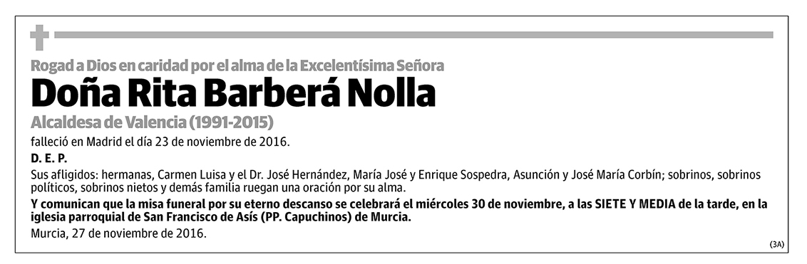 Rita Barberá Nolla