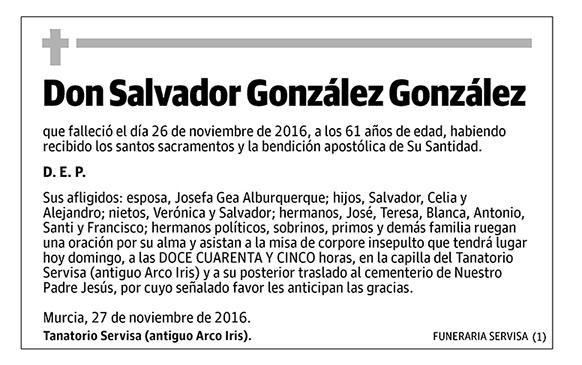 Salvador González González