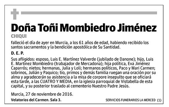 Toñi Mombiedro Jiménez