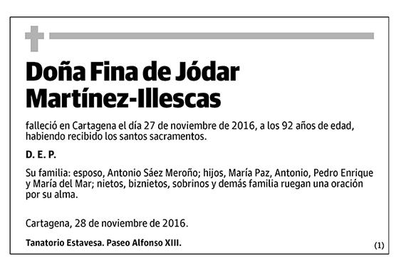 Fina de Jódar Martínez-Illescas