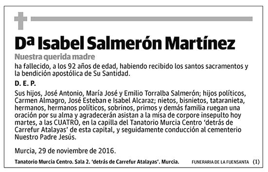 Isabel Salmerón Martínez