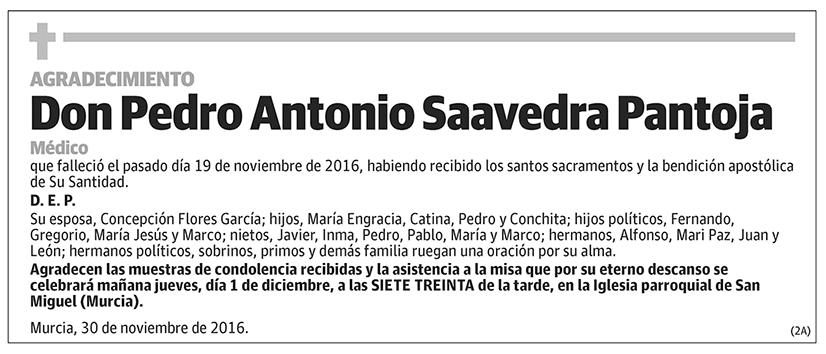 Pedro Antonio Saavedra Pantoja