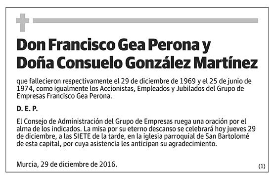 Francisco Gea Perona y Consuelo González Martínez
