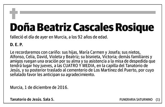 Beatriz Cascales Rosique