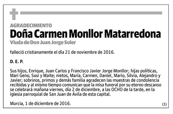 Carmen Monllor Mantarredona