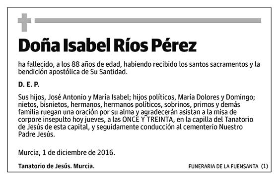 Isabel Ríos Pérez