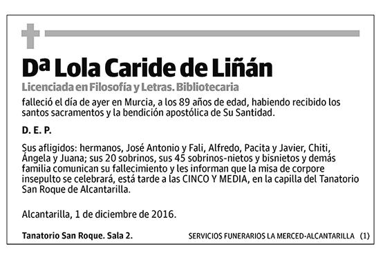 Lola Caride de Liñán