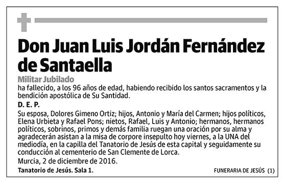 Juan Luis Jordán Fernández de Santaella
