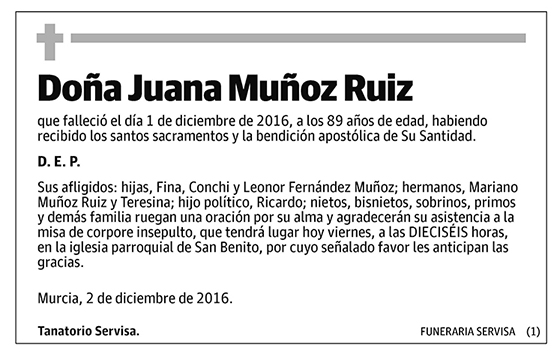 Juana Muñoz Ruiz