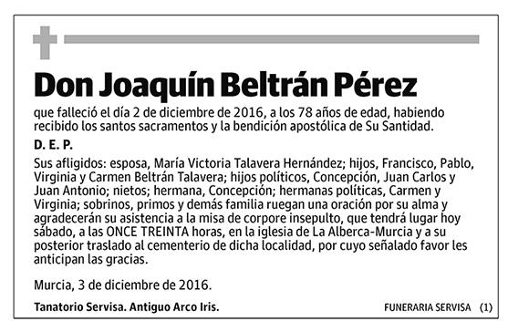 Joaquín Beltrán Pérez